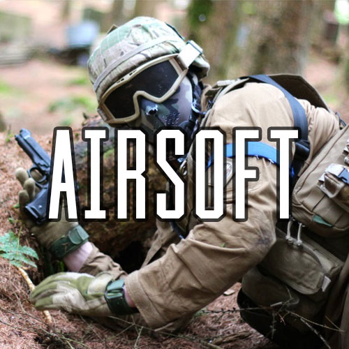 Button for Airsoft Activity at Quex Activity Centre, Quex Park