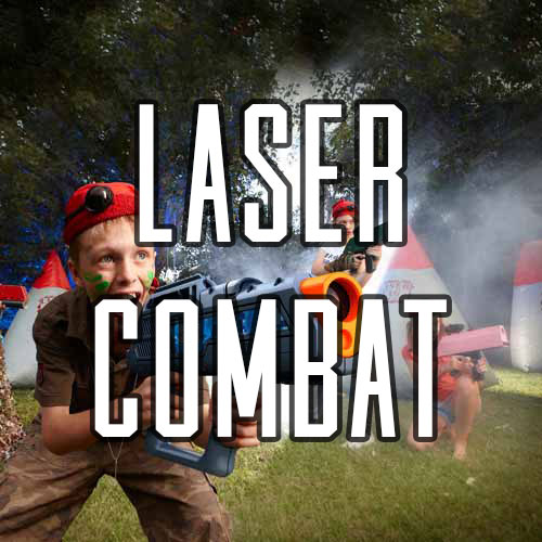 Button for Laser Combat Activity at Quex Activity Centre, Quex Park