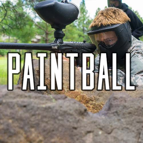 Button for Paintball Activity at Quex Activity Centre, Quex Park