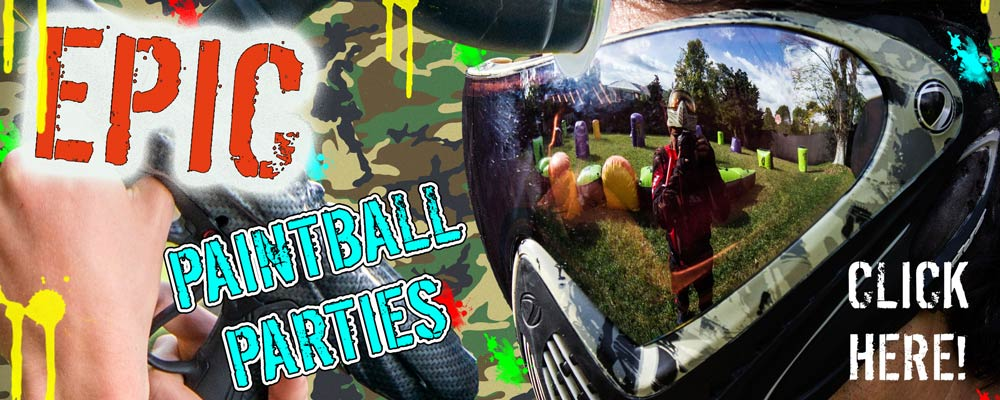 paintball party banner