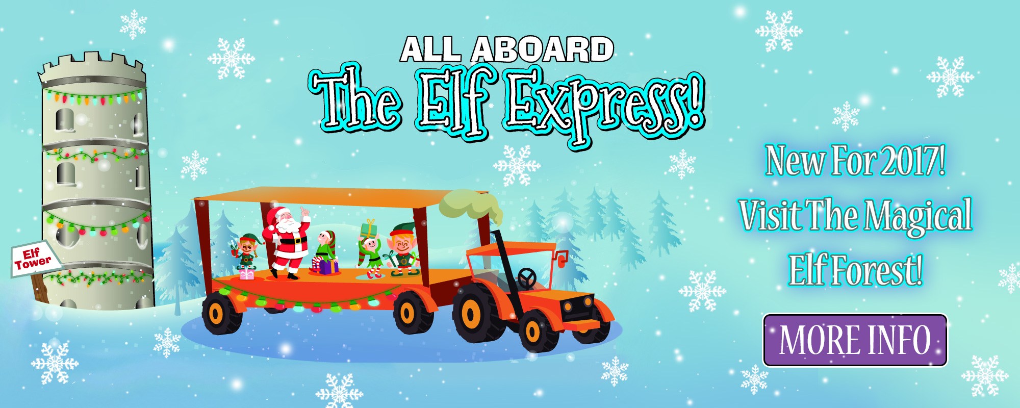 The elf express and magical elf forest christmas event at Quex Activity Centre, Thanet