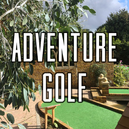 Button for Adventure Golf Activity at Quex Activity Centre, Quex Park