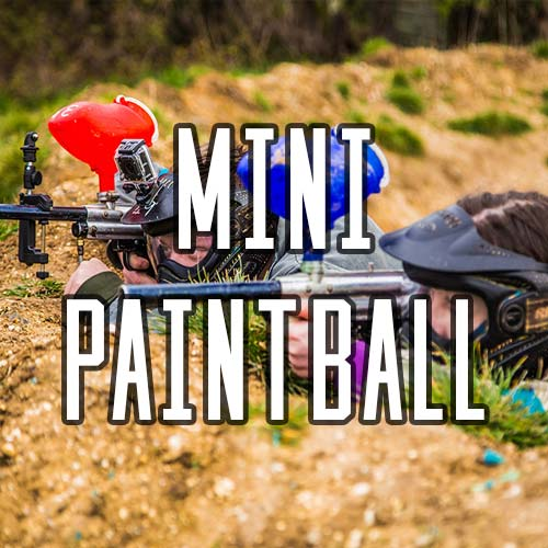 Button for Mini Paintball Activity at Quex Activity Centre, Quex Park
