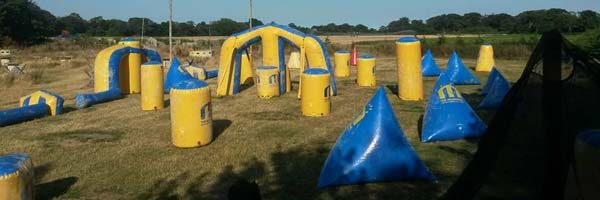 Inflatable field at Quex Activity Centre, Thanet