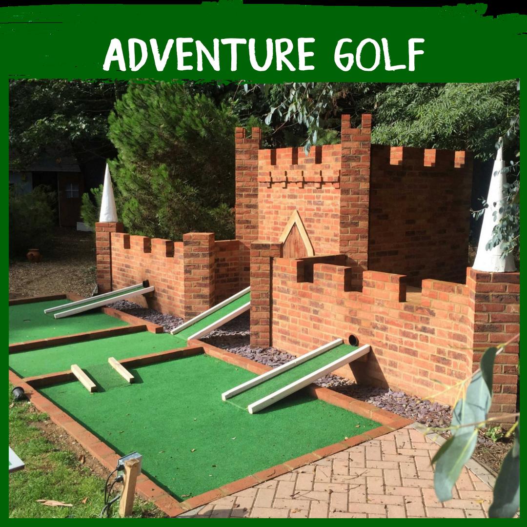 Button for Adventure Golf Activity at Quex Activity Centre, Quex Park